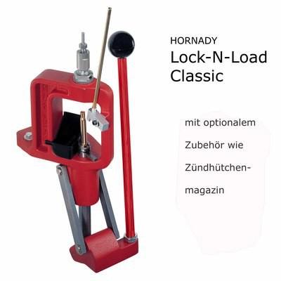 Ladepresse HORNADY Classic & 3 Baj.-Adapter