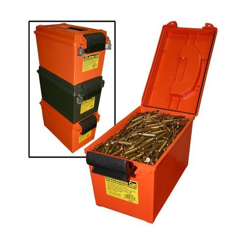 Munibox orange, abschließbar, rutschfest, stapelbar, mit O-Ring-Abdichtung, Innenmaße 19x33x18,4 cm. MTM Art.-Nr. AC35