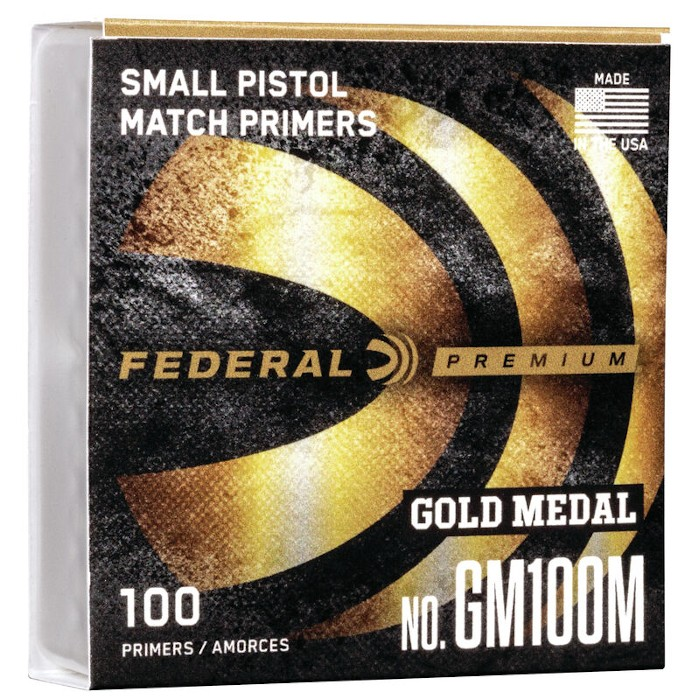 FEDERAL 100 Small Pistol Gold Medal Match- Zündhütchen