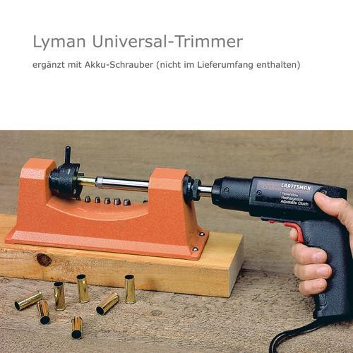 LYMAN Universal-Trimmer & 9 Pilote & Power Adapter